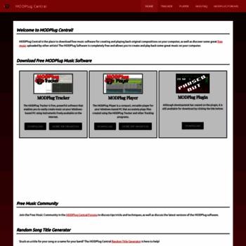 modplug com at WI  MODPlug Central   Free Music Software