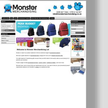 Monstermerchandising.co.uk thumbnail