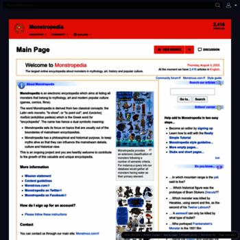 Monstropedia.org thumbnail