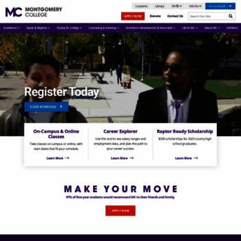 Montgomerycollege.edu thumbnail