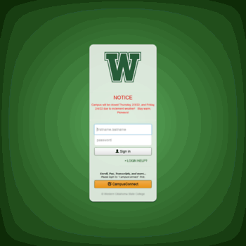 Moodlewoscedu At Wi Western Oklahoma State College Moodle Login