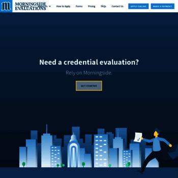 morningeval com at WI  Morningside Evaluations