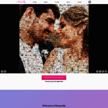 mosaically com at WI  Mosaically ® - Photo Mosaic Creator (Free