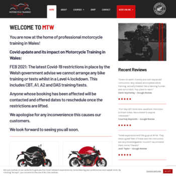 Motorcycletrainingwales.co.uk thumbnail