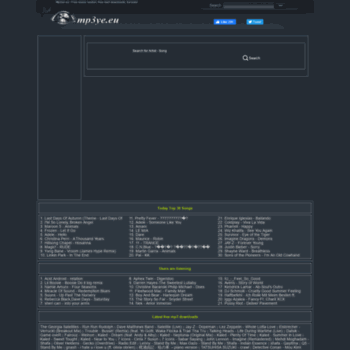mp3ye.eu at WI. Mp3ye.eu - Mp3 Search Engine, Free Mp3