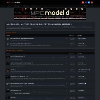 mpc-forums com at WI  Akai MPC Forums - Tips, Tricks