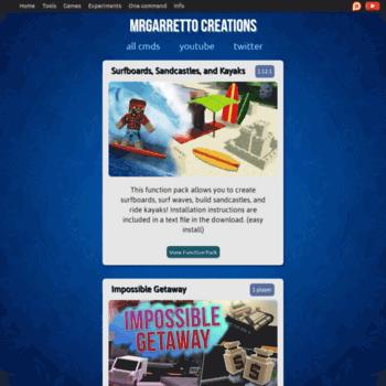 Mrgarretto Com At Wi Mrgarretto S Minecraft Creations