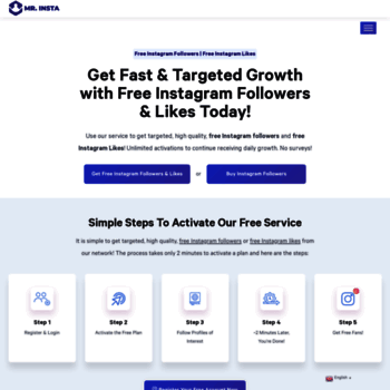 mrinsta com at WI  Free Instagram Followers | 100% Free