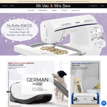 Mrvacandmrssew Com At Wi Mr Vac Mrs Sew Quality Products For