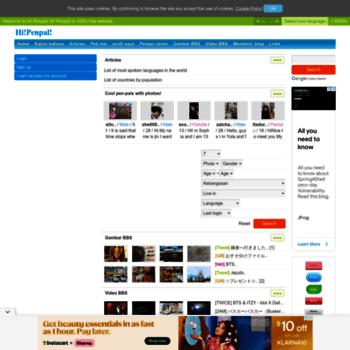 ms hipenpal com at WI  HI! PENPAL! An international penpal website!