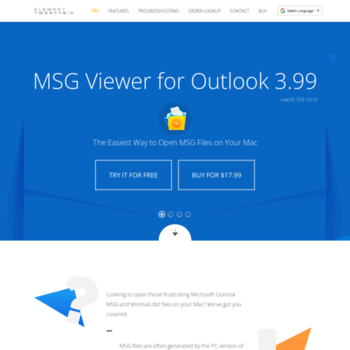msgviewerforoutlook com at WI  MSG Viewer for Outlook - Open