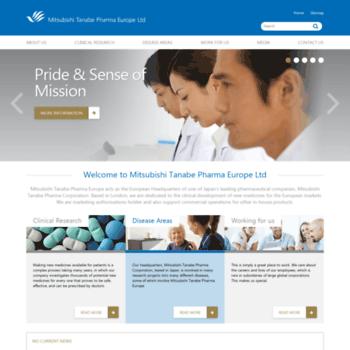 mt-pharma-eu com at WI  Mitsubishi Tanabe Pharma Europe