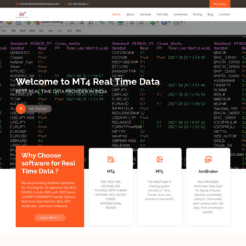 mt4realtimedata com at WI  MT4 Real Time Data | Equity, NSE