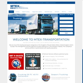 mtex-international com at WI  Middle East | Europe Transport