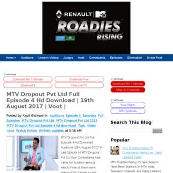 Mtvroadiesx5.in thumbnail