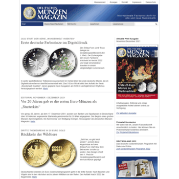 Muenzenmagazinde At Wi Deutsches Münzen Magazin Start