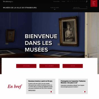 Musees-strasbourg.org thumbnail