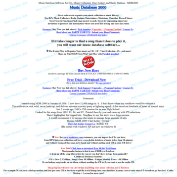 musicdatabasesoftware com at WI  Music Database Software for