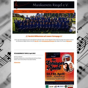 Musikverein-riegel.de thumbnail