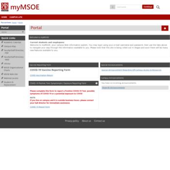 My.msoe.edu thumbnail