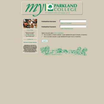 My.parkland.edu thumbnail