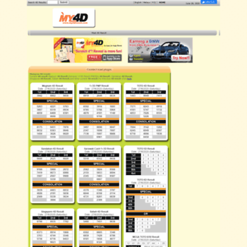 my4dresult com at WI  Malaysia 4D results and 4d results portal