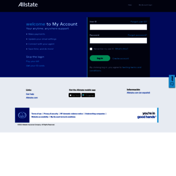 Allstate My Account >> Myaccount Allstate Com At Website Informer Visit Myaccount Allstate