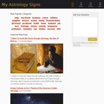 myastrologysigns com at WI  My Astrology Signs