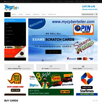mycyberteller com at WI  Buy WAEC Result Checker Online, Buy NECO