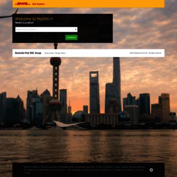 mydhlplus dhl com at WI  MyDHL+ | International Shipping and