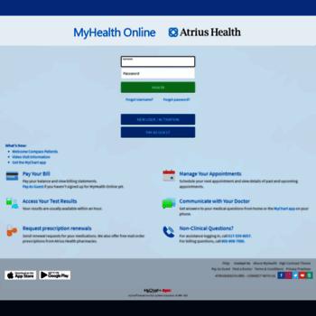 myhealth atriushealth org at WI  MyHealth Online - Atrius Health
