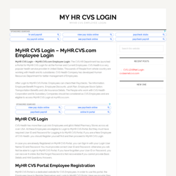 My Cvs Login For Employees The Best Employee