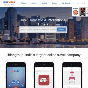 myibibo com at WI  Ibibo Group - Largest Online Travel Company