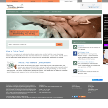 myicucare org at WI  Patients and Families   SCCM   Patient