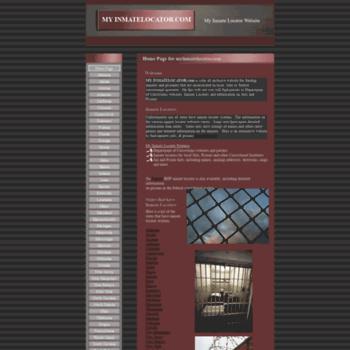 myinmatelocator com at WI  My Inmate Locator, Inmate Finder
