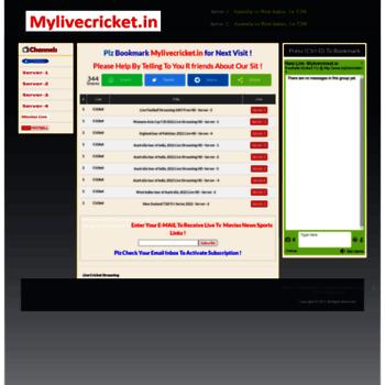 Mylivecricket.cc thumbnail