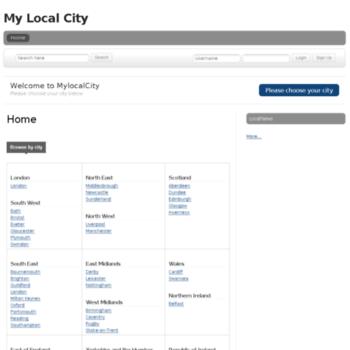 Mylocalcity.co.uk thumbnail