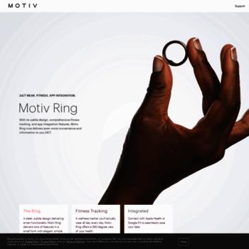 mymotiv com at WI  Motiv Ring   24/7 Smart Ring   Fitness +