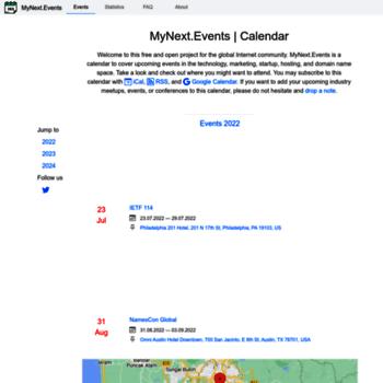 Mynext.events thumbnail