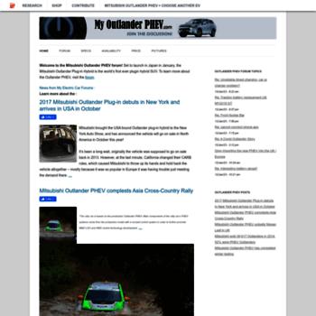 myoutlanderphev at wi. mitsubishi outlander phev forum