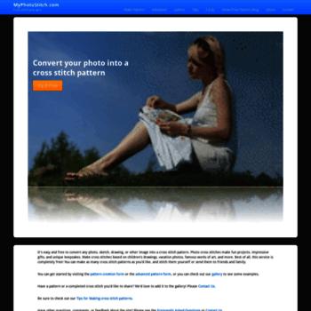 myphotostitch com at WI  Free Cross Stitch Pattern Maker