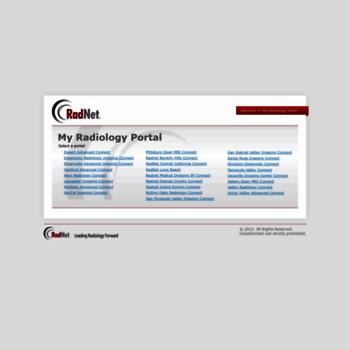 myradiologyportal com at WI  My Radiology Portal
