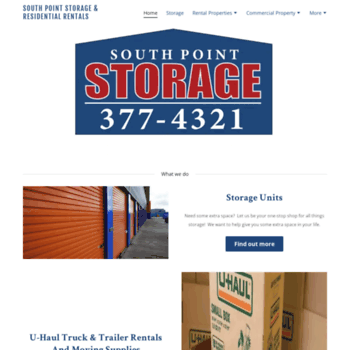 Mysouthpointstorage.mobi Thumbnail. South Point Storage South ...