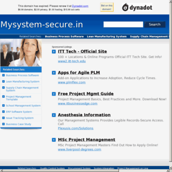 Mysystem-secure.in thumbnail