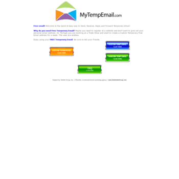 mytempemail com at WI  Disposable Temporary E-Mail Address