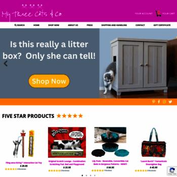 Mythreecats.com thumbnail