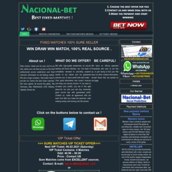 nacional-bet com at WI  Nacional Bet|Soccervista , predictz