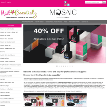 nailessentialz com at WI  Wholesale Gel Nail Supplies & Education