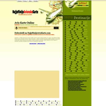 Avio Karte.Najjeftinijeavionskekarte Com At Wi Avionske Karte