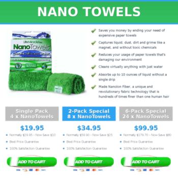 Nanotowels.org thumbnail